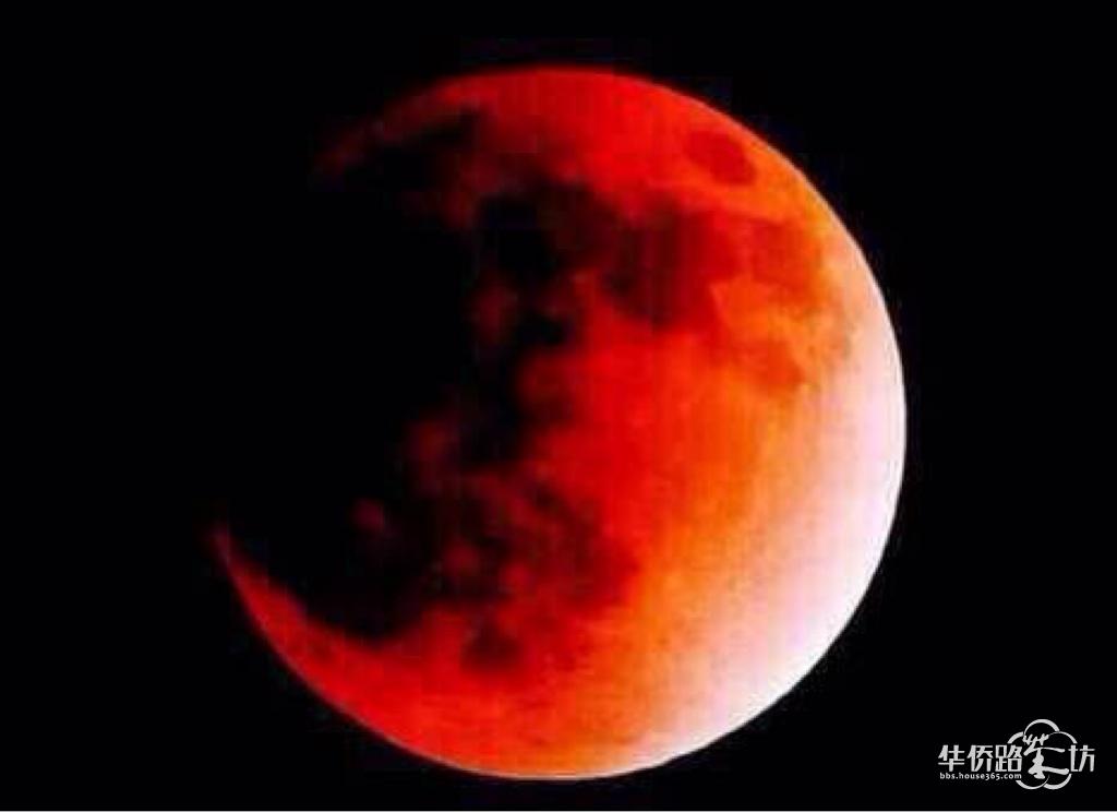 转:今晚的红月亮