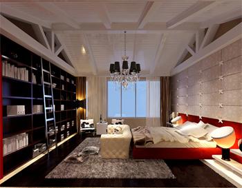 在小户型中的功能空间设计都略显紧凑,隔层上部一般作为卧室,书房
