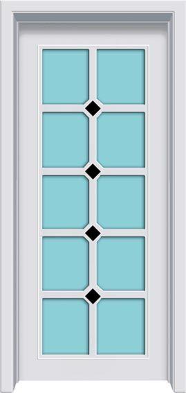 佳禾豪格实木工艺镶嵌玻璃门