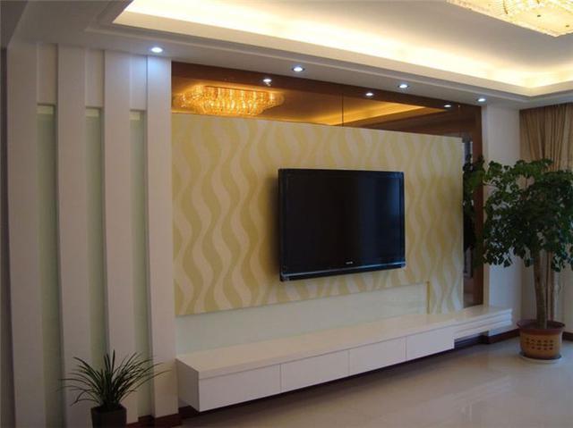 【临天装饰】时尚客厅电视背景墙效果图-装修宝典