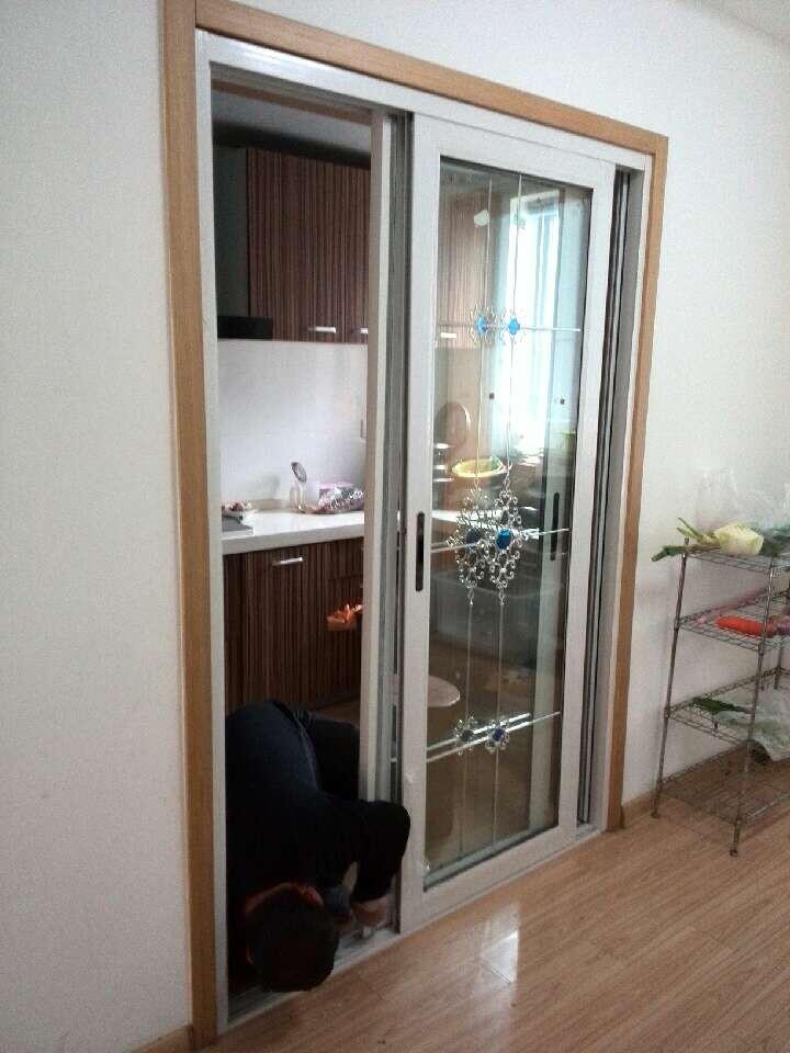 君好门窗之中空移门 阳台厨房移门 隔音双层钢化移门