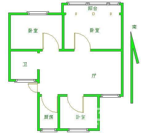 64平方房屋设计图展示