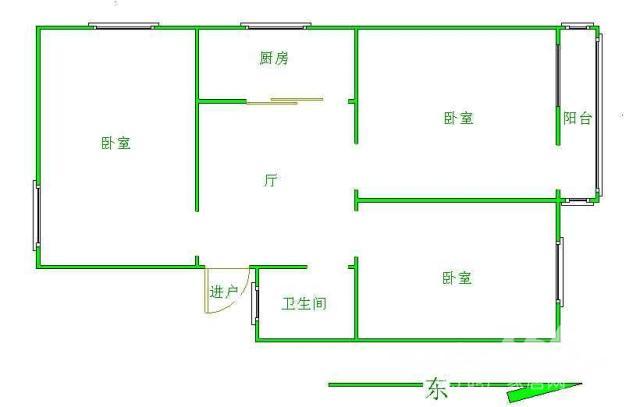 新街口地铁淮海新村三室一厅满五年唯一