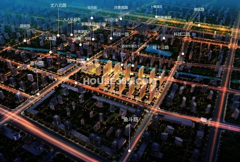 东方米兰国际城鸟瞰图