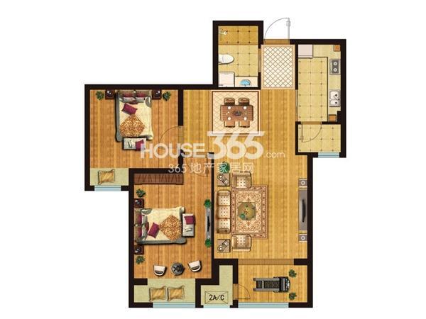 D4户型2室2厅1卫1厨 92.00㎡