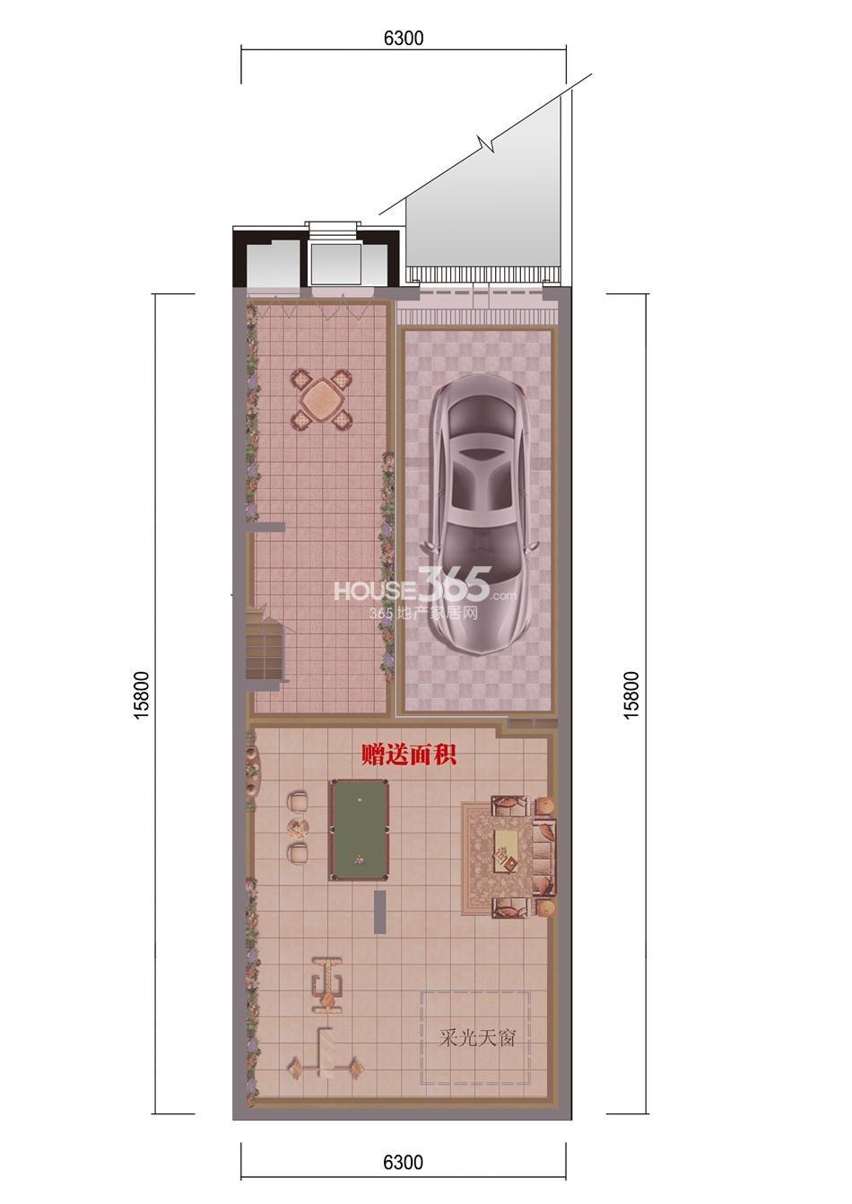 旭辉御府别墅178平米户型楼层图