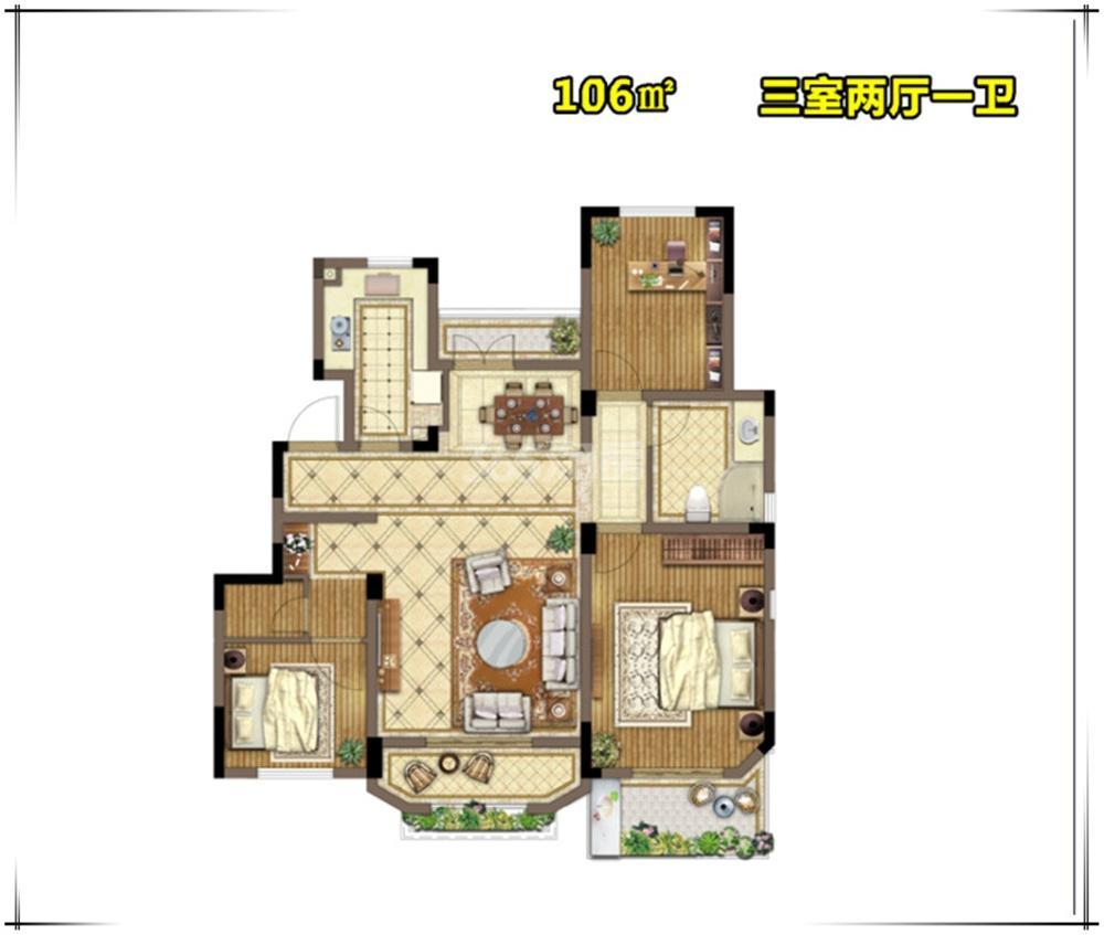 金浦御龙湾E4户型图