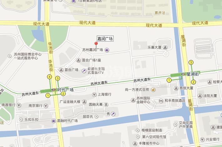 协鑫广场交通图