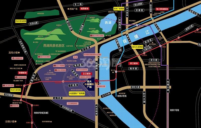 商业:恒大商业中心 住宅:澜玉水晶熙园交通图