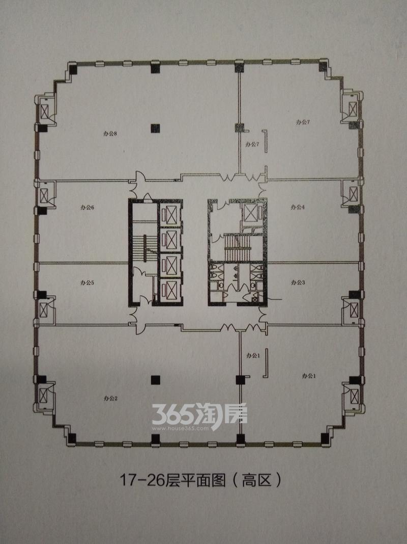 信地城市广场二期写字楼平层图
