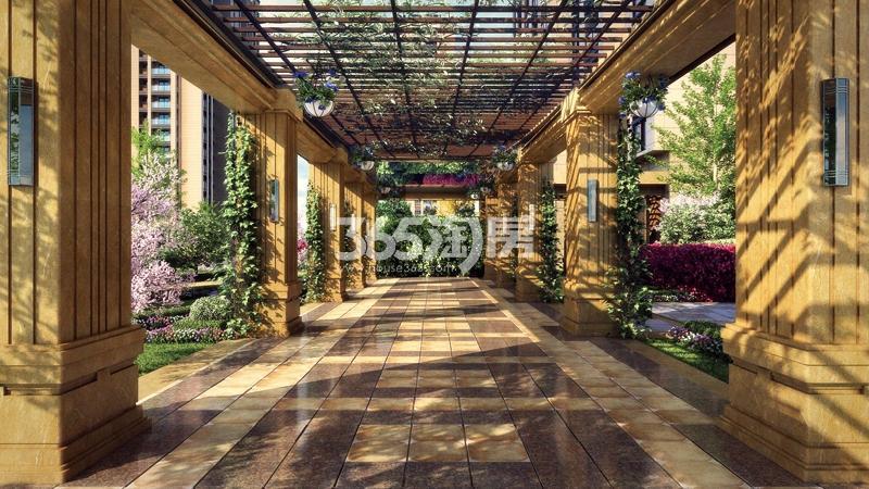 赞成首府项目风雨连廊效果图-赞成首府楼盘图片 杭州365淘房