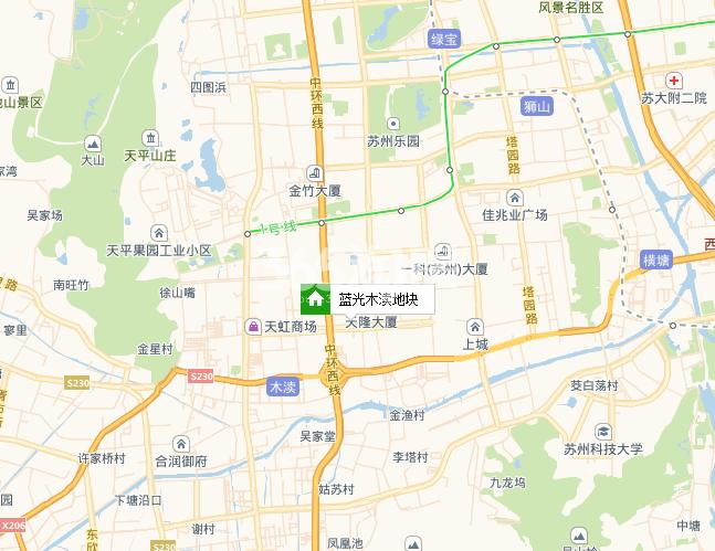 蓝光和雍锦园交通图