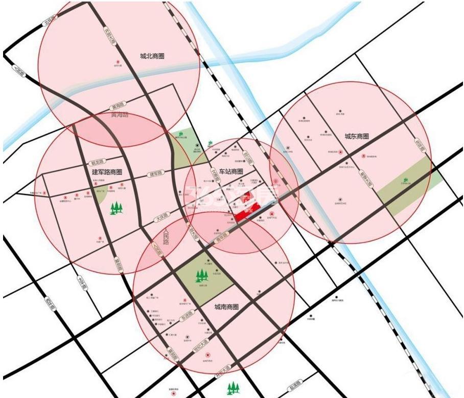 豪德广场交通图