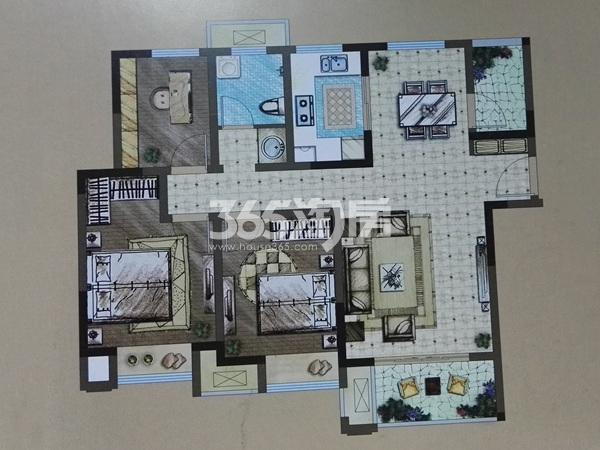 A3三室两厅一卫户型(104㎡)