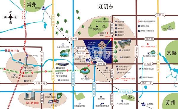 中隆广场·润煕府交通图