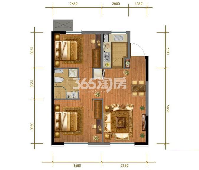 5#、7# 2室2厅1卫 76平米