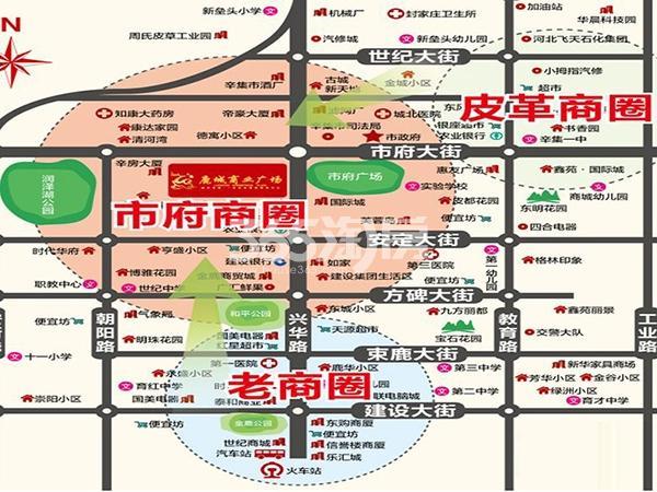 鹿城商业广场交通图