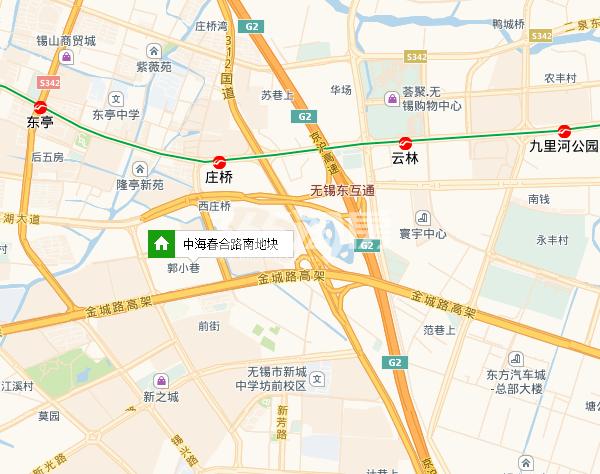 中海春合路南地块区位图