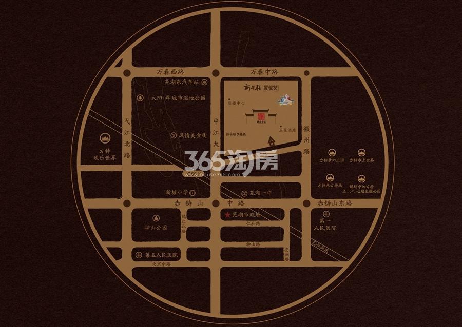 新华联梦想城交通区位图