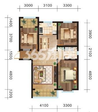 三室两厅一卫126.12㎡