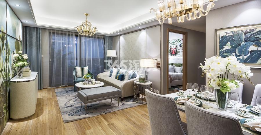 新城香悦公馆A1户型89方样板房——客餐厅