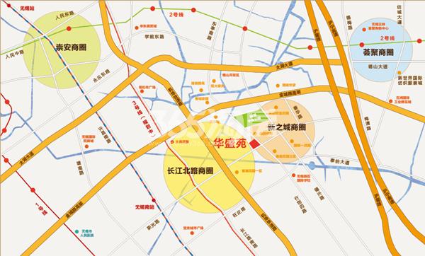 华盛苑交通图