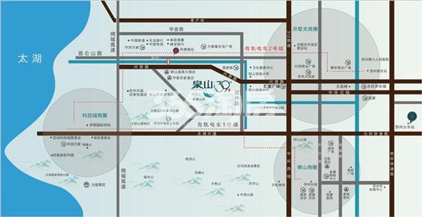 泉山39°交通图
