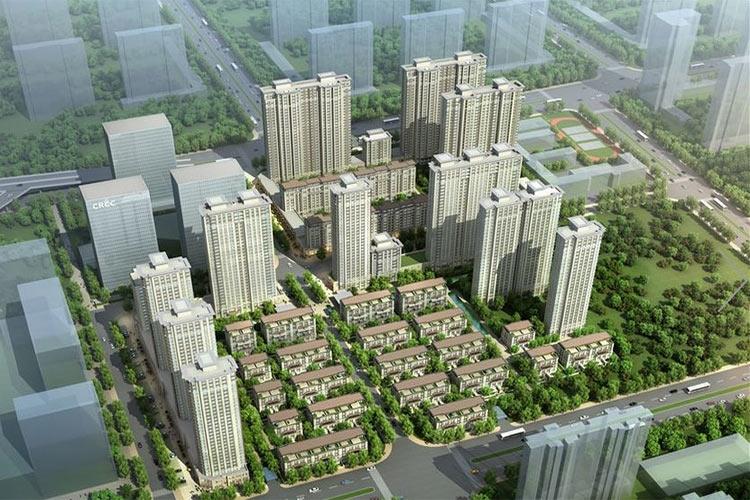 中国铁建西派国际鸟瞰图
