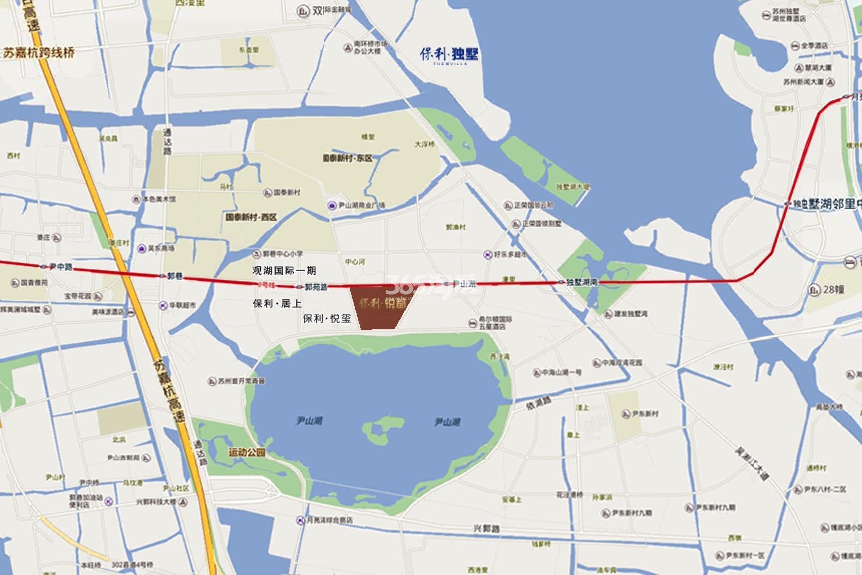 保利悦公馆交通图