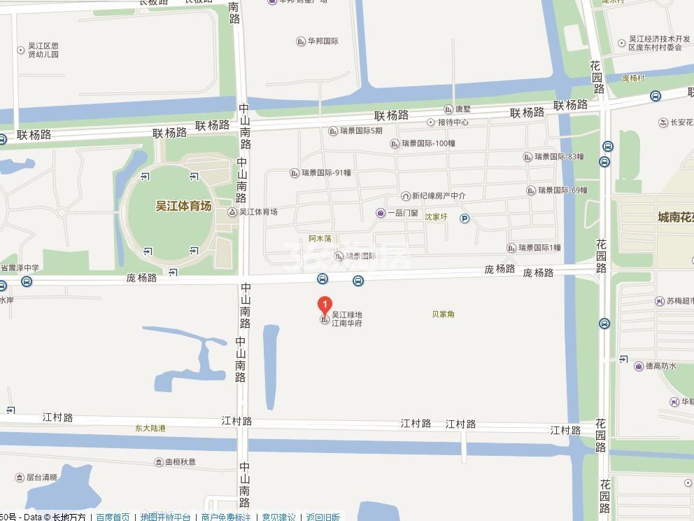 璀璨四季花园 (绿地江南华府)交通图