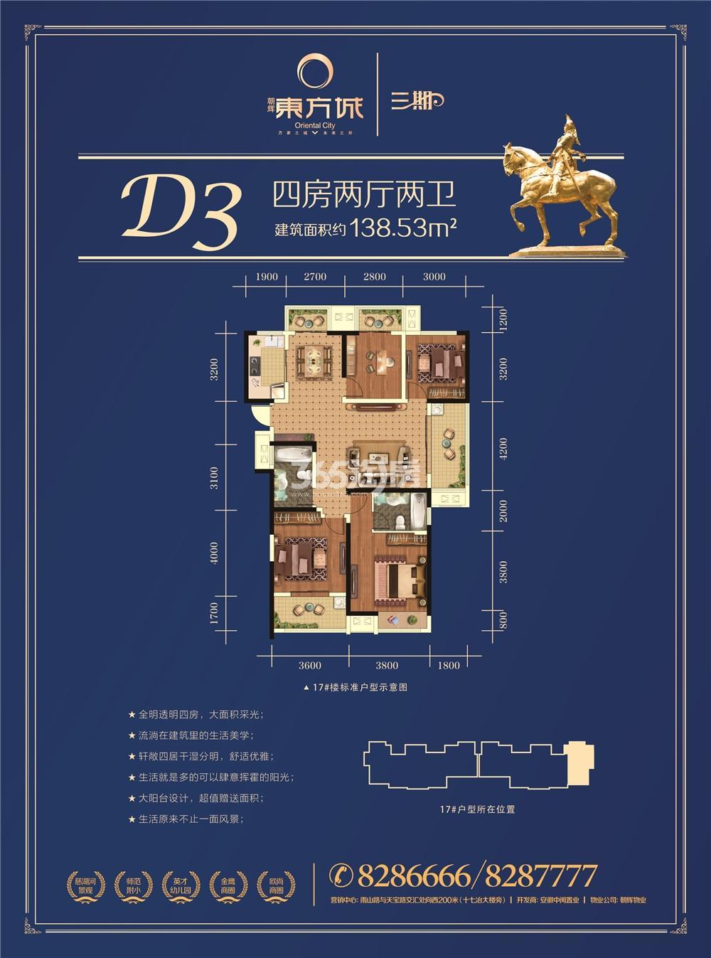 朝辉东方城三期D3户型图
