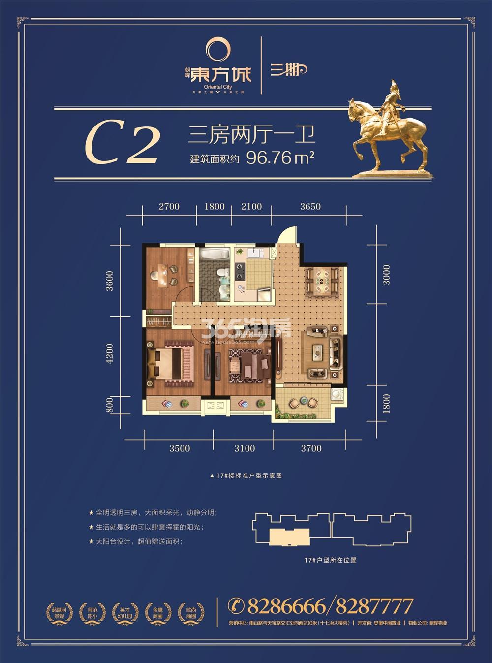 朝辉东方城三期C2户型图