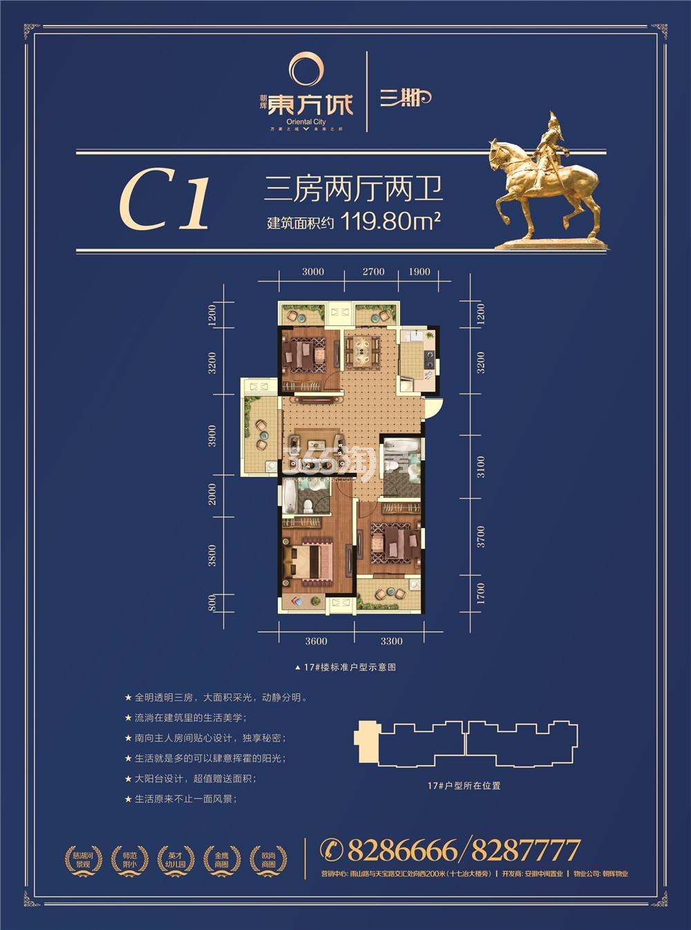 朝辉东方城三期C1户型图