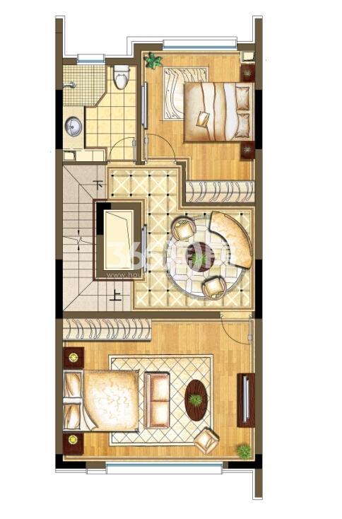 瑞安翠湖山西边02室224㎡C户型2层