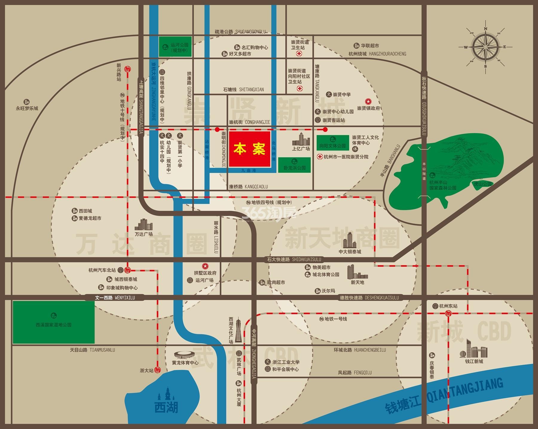 荣安翡翠半岛交通图