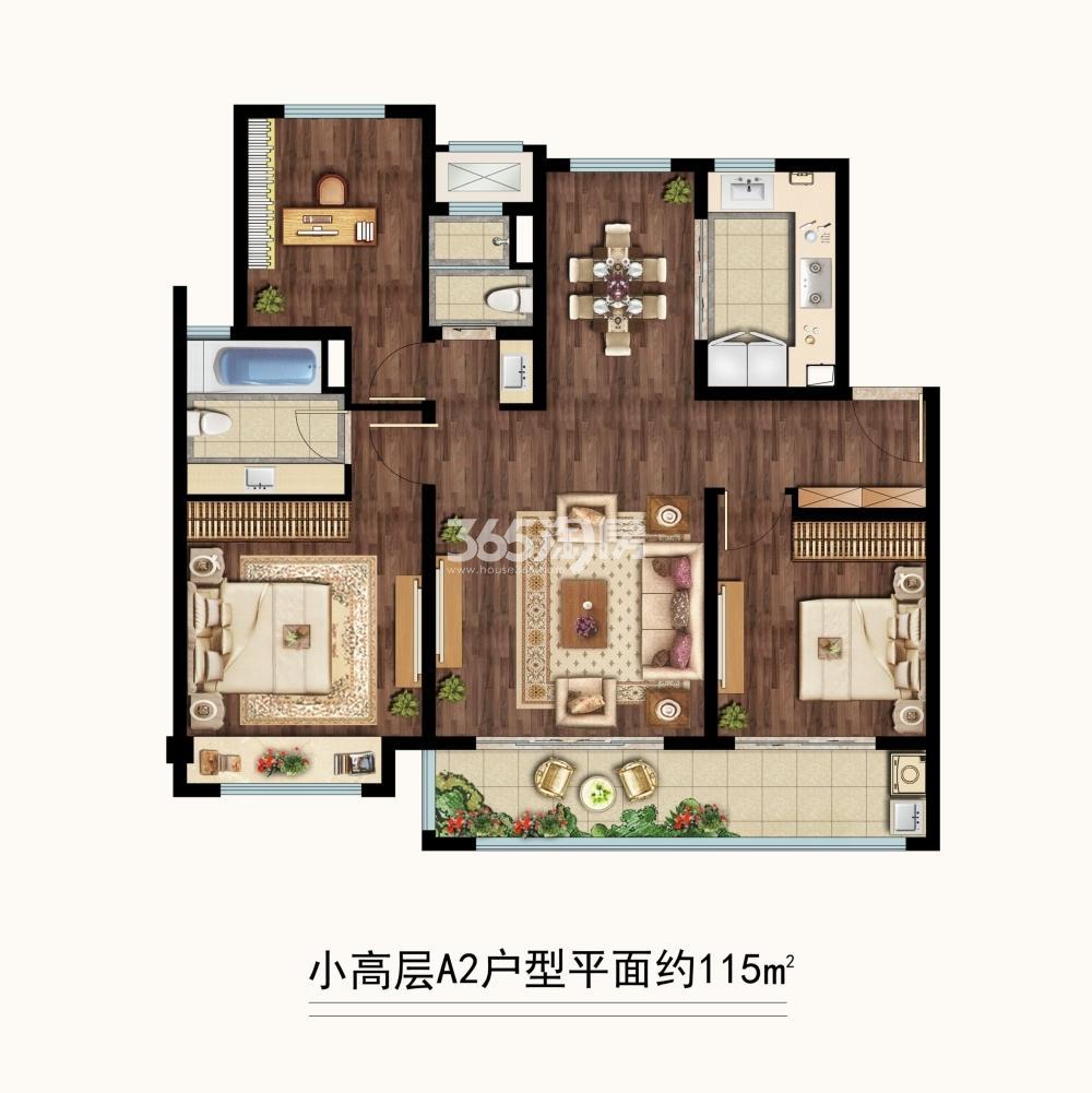 中海凤凰熙岸三期小高层约115平A2户型