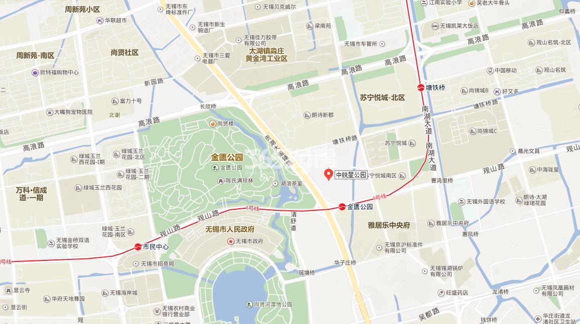 中锐星公园交通图