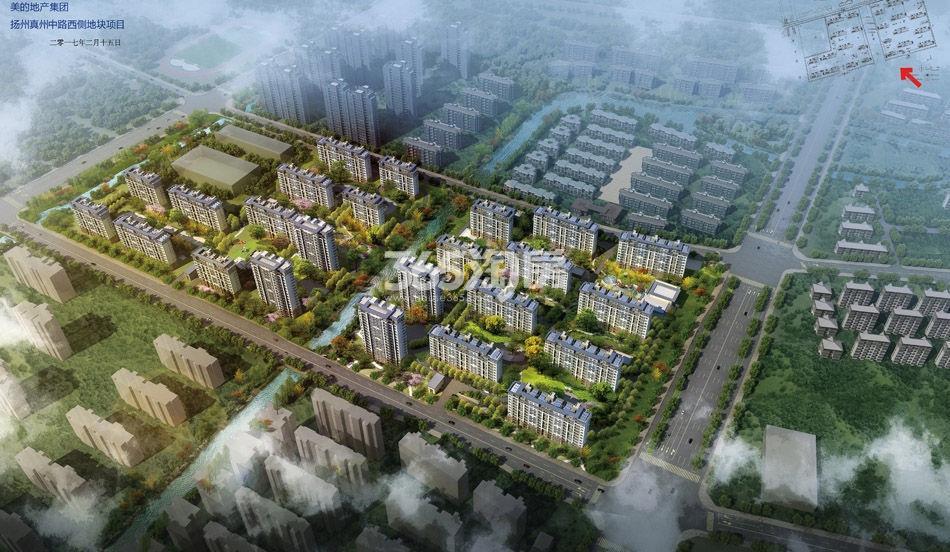 扬州美的城鸟瞰图