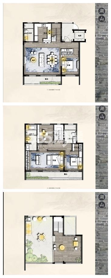 东原亲山173-180㎡户型图