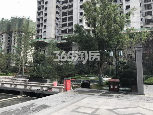 恒大翡翠龙庭一期实景园林展示(2017.10.10)