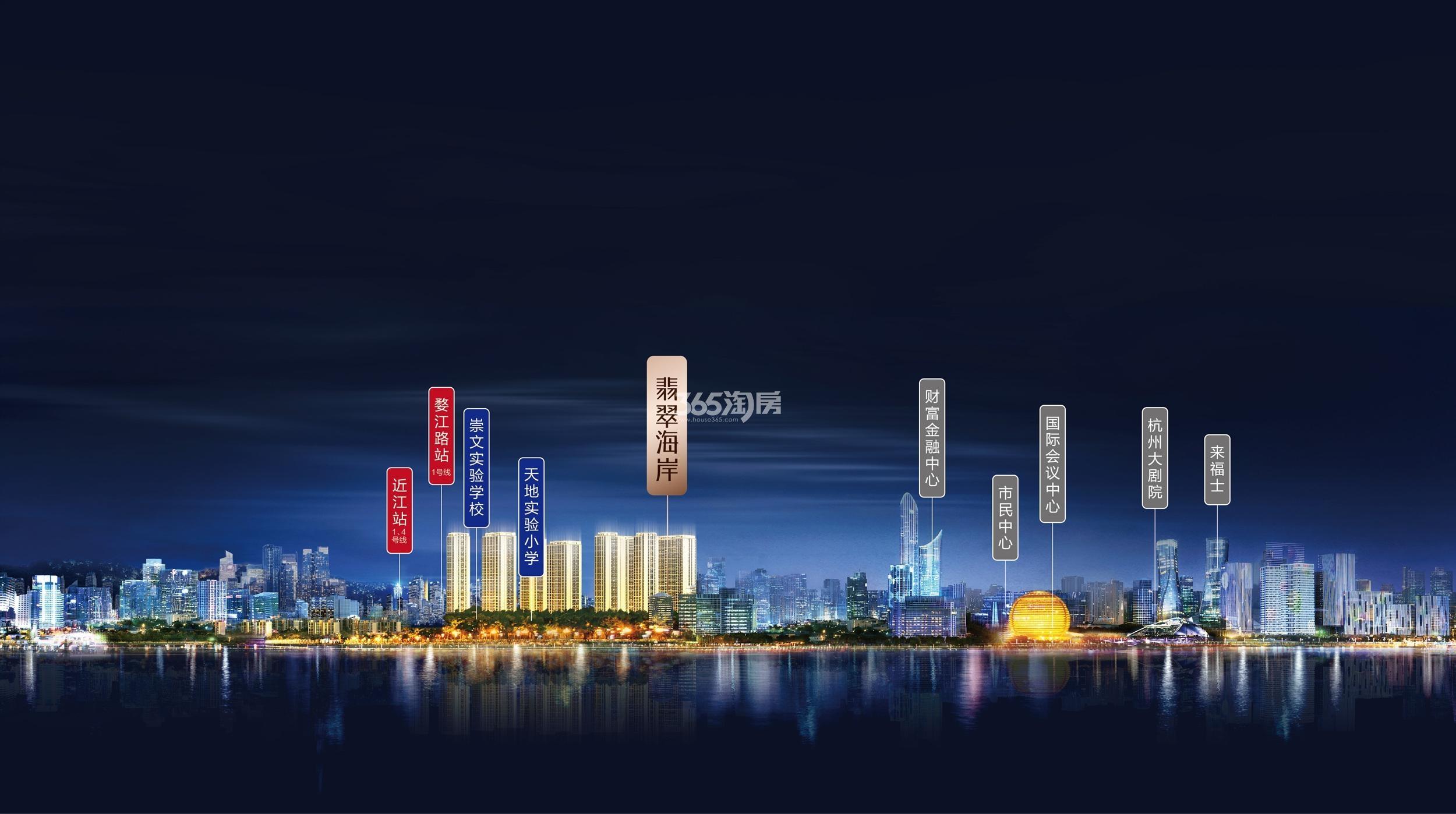 滨江保利翡翠海岸交通图