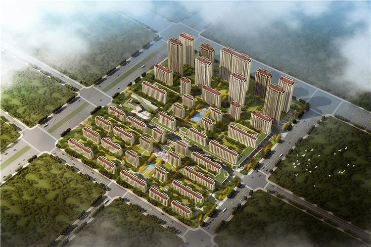 绿城西安全运村二期甘棠苑鸟瞰图