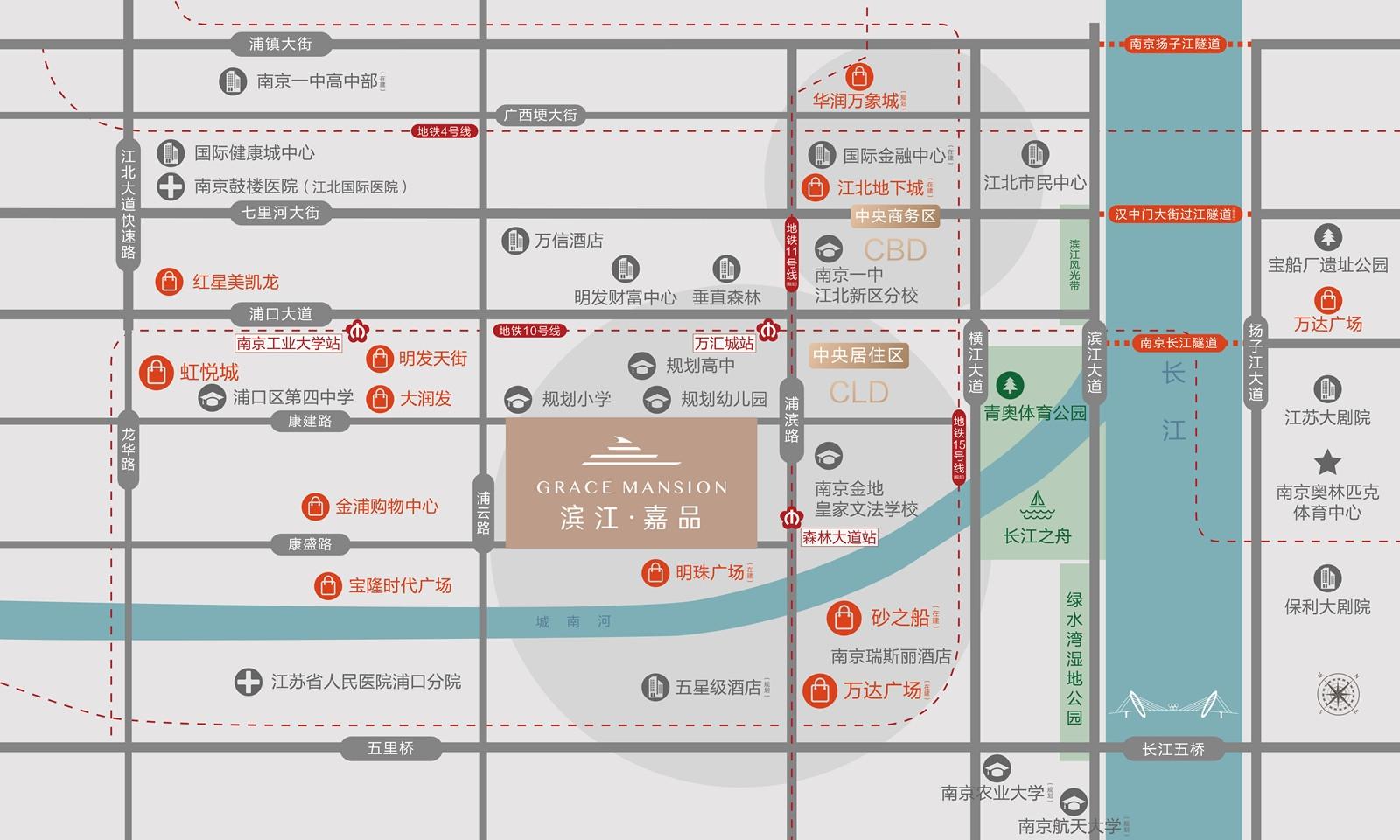 滨江嘉品交通图